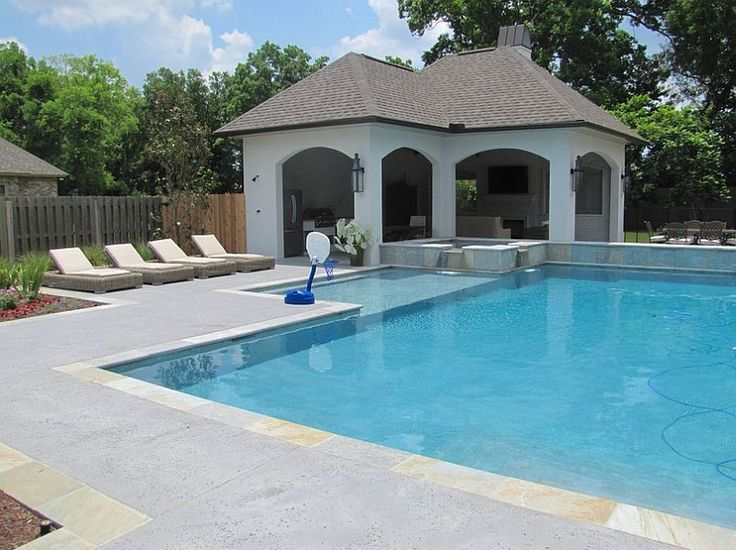 121 best images about outdoor living area ideas on for Concrete pool designs