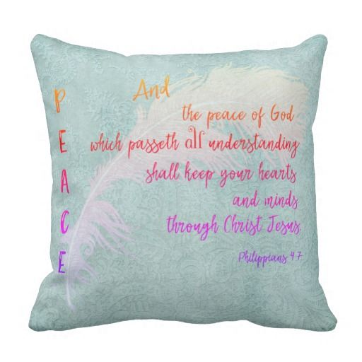 Throw Pillows With Bible Verses : The 352 best images about Pillows with Quotes and Sayings on Pinterest Inspirational christian ...