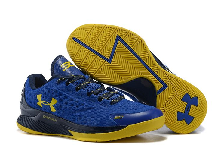 Cheap Under Armour Stephen Curry Low Shoes Yellow Blue
