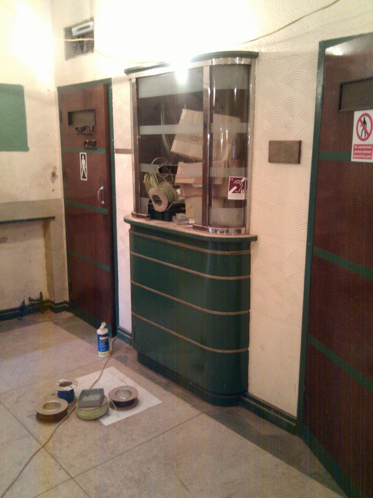 Booking office.