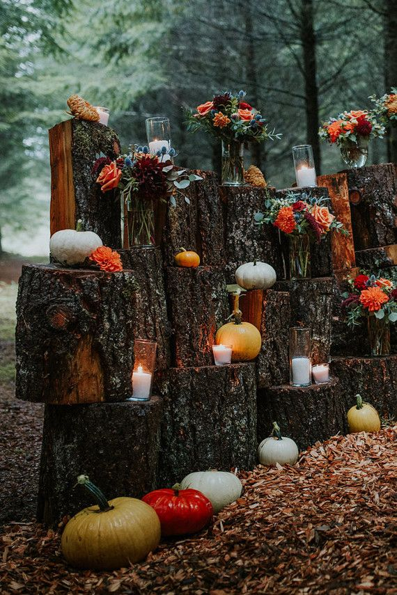 Rustic fall wedding with pumpkins: Kalina + Matthew