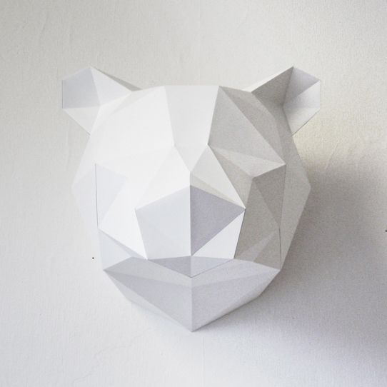 30 - Paper Kit /// Bear /// White - Store Without a Home