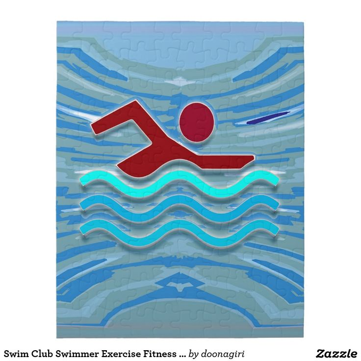 Swim Club Swimmer Exercise Fitness NVN254 Swimming Jigsaw Puzzles