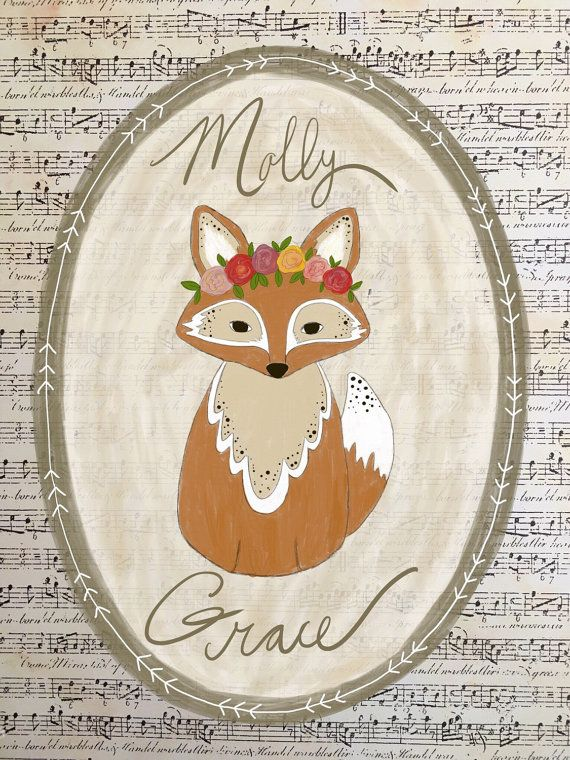 Hey, I found this really awesome Etsy listing at https://www.etsy.com/listing/262062461/girl-fox-print-nursery-decor-art-print