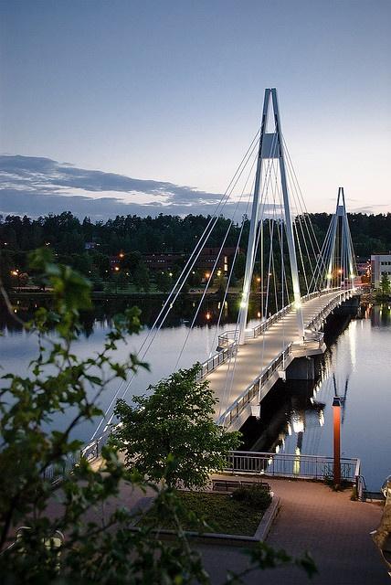 Ylistö Brücke in Jyväskylä, Finland