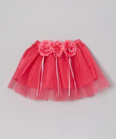 WOW $10.99 for 2 days ~ Fuchsia Triple Flower Tutu - Toddler & Girls by Sparkle Adventure ~ more colors