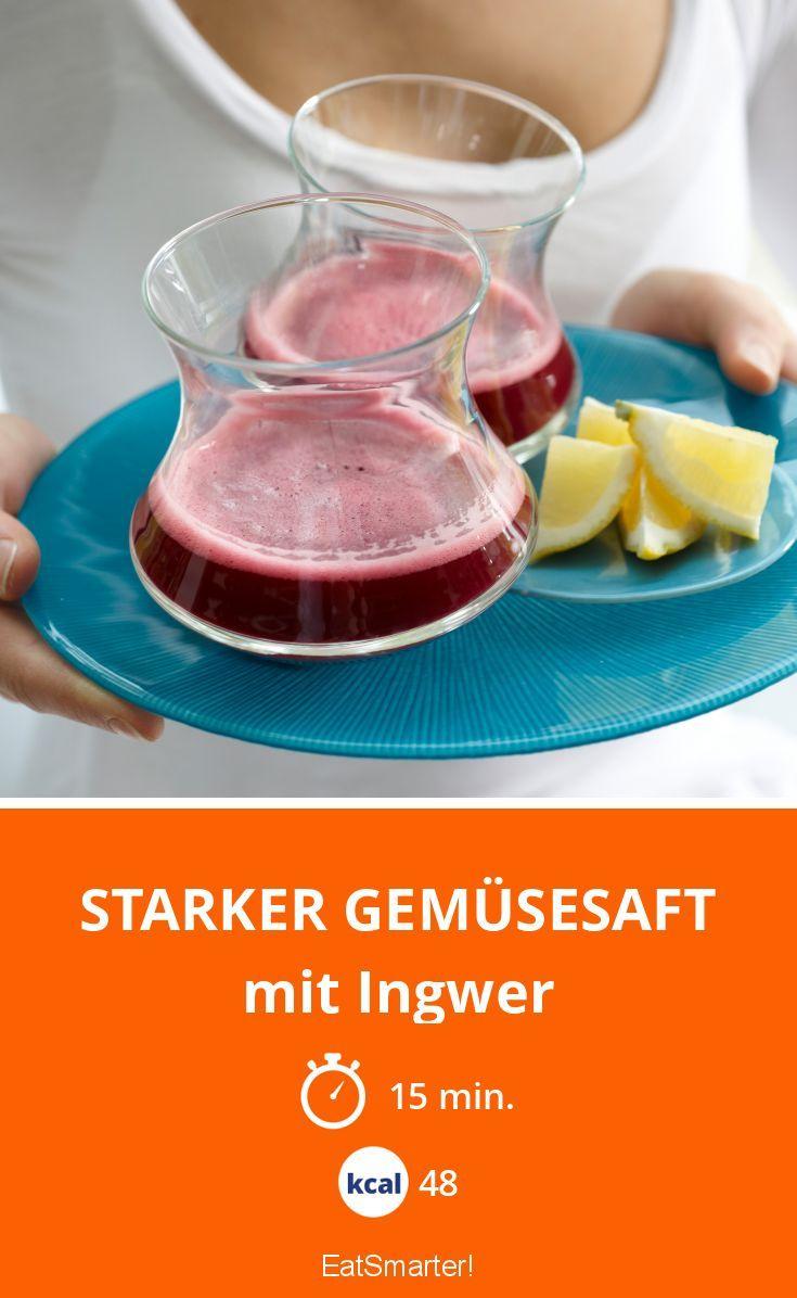 Starker Gemüsesaft - mit Ingwer - smarter - Kalorien: 48 kcal - Zeit: 15 Min. | eatsmarter.de
