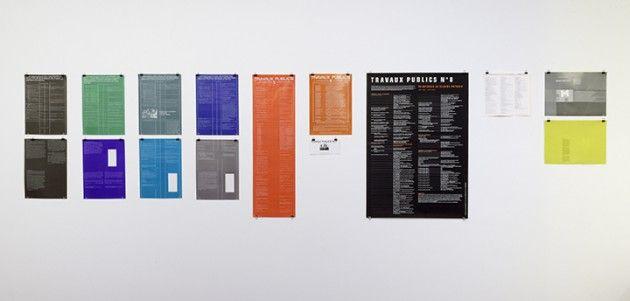 Claude Rutault // Travaux publics (10 posters set)