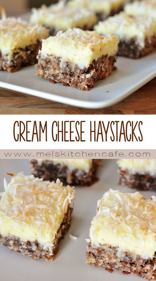 Chocolate Haystack Cream Cheese Squares | Mel's Kitchen Cafe