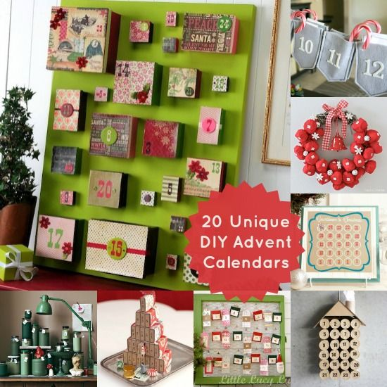 12 best images about advent calendars on pinterest for Diy christmas advent calendar ideas