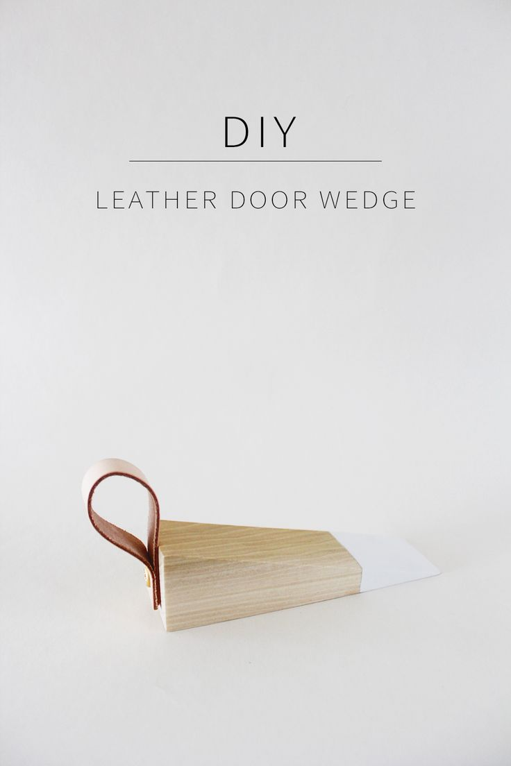 Make a Chic DIY Leather Door Wedge from scrap wood!