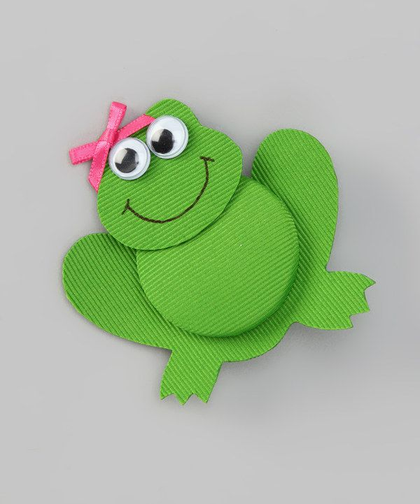 Take a look at this Green Frilly Frog Clip on zulily today!