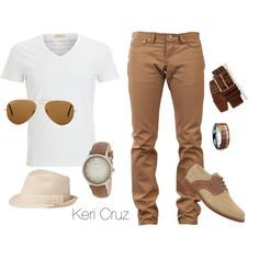 Men's Relaxed Fashion, created by keri-cruz on Polyvore. Minus the hat
