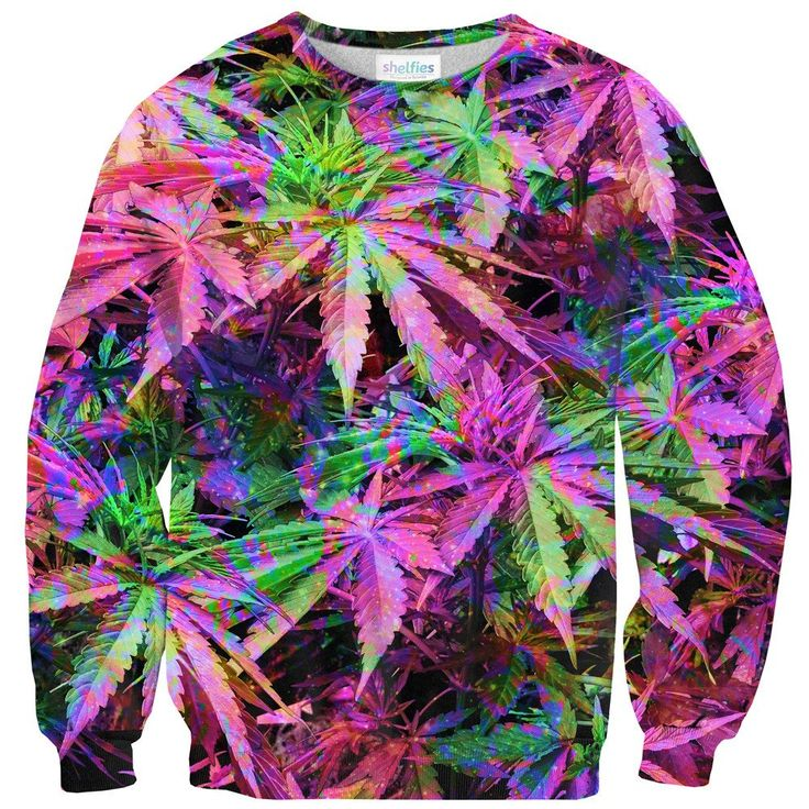 Sweatshirts - Rainbow Weed Sweater