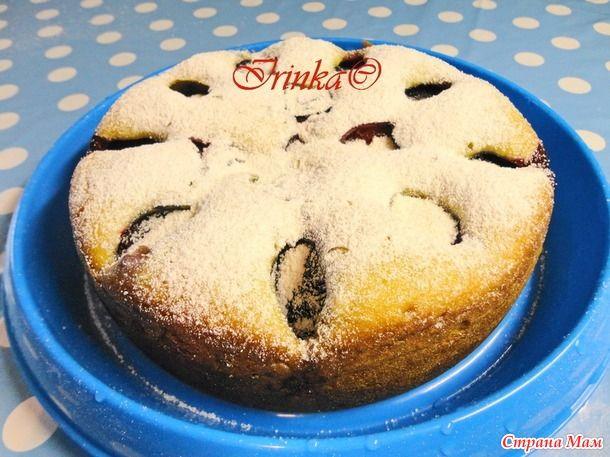 Девочки, сегодня предлагаю вам рецепт одного из моих любимейших пирогов.  Пирог сметанный со сливами.