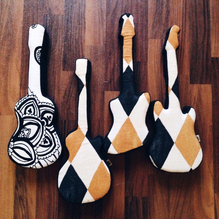 Handmade soft miniguitars.