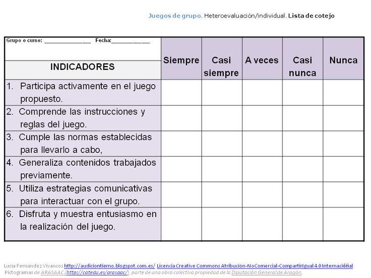 lista de cotejo  instrumento para evaluar actividades de grupo