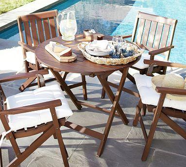 Chatham Round Folding Bistro Table $200, mahogany ...