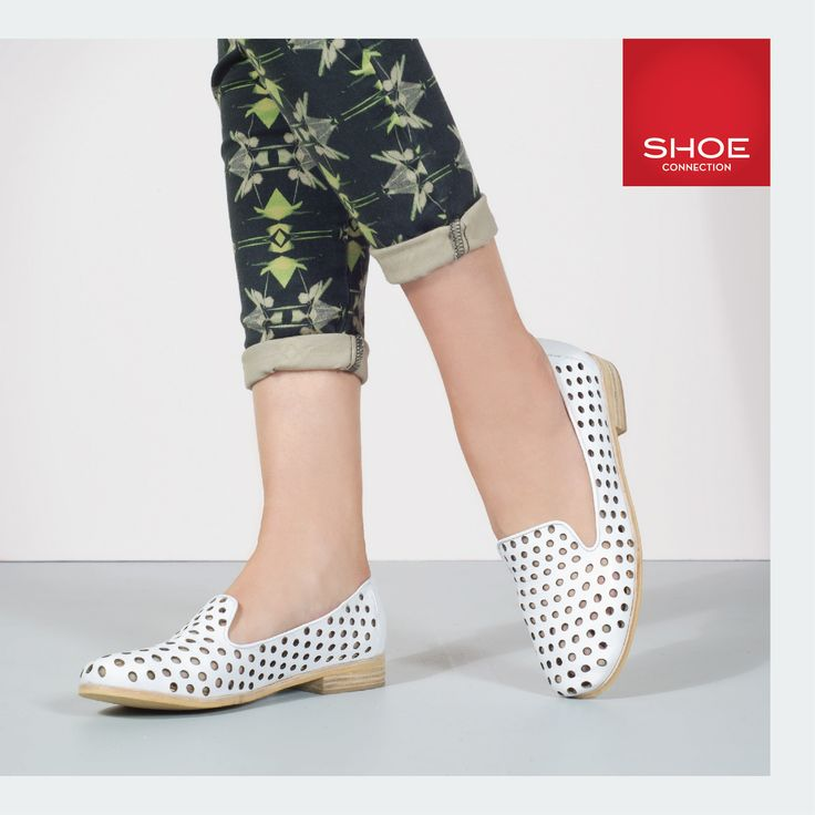 Shoe Connection Spring/Summer 14/15 Campaign. Loafer Flats - White - Print. Shop: http://www.shoeconnection.co.nz/