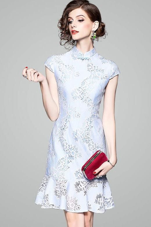 282b5569d Lace Qipao Dress W/ Fish Tail in 2019 | Clothes | Dresses, Lace ...