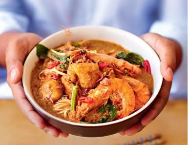 Prawn Laska, Possibly the Best Prawn Curry You Will find: Prawn Laska Curry