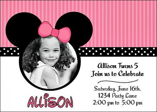 Invitaciones para imprimir de Mickey Mouse ~ personalizado para su cumpleaños de niños