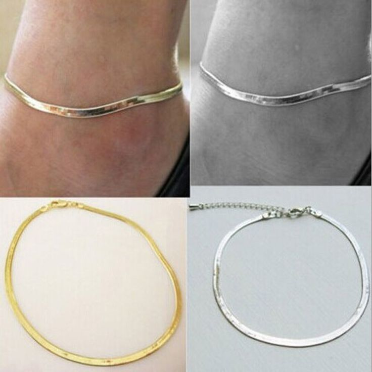 New Fashion accessories jewelry Women/Girl's chain link anklets  summer style gifts free shipping AN40