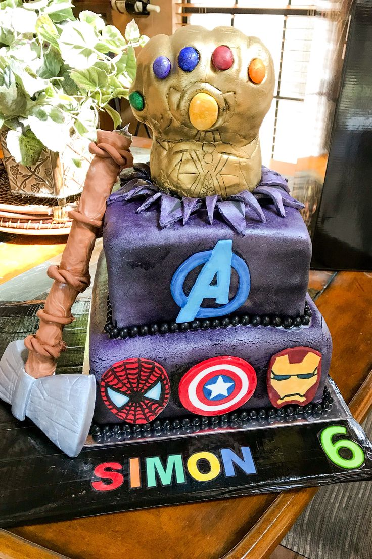 Avengers Infinity War Cake For Simon S 6th Birthday Been