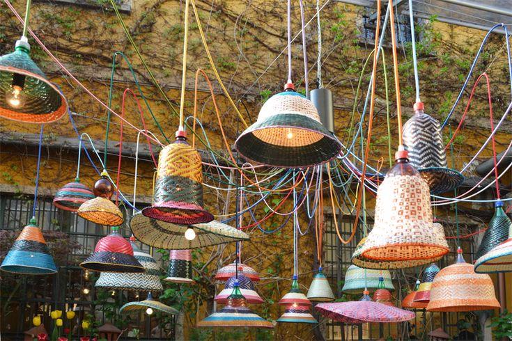 PET bottle lamps by alvara catalan de ocon