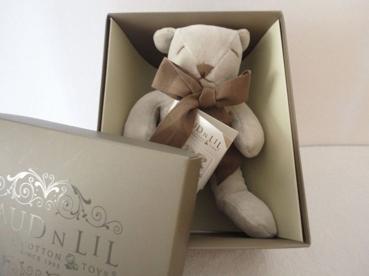 Cubby the Teddy Bear Organic Soft Toy by Maud n Lil - RRP usually $50 plus post!