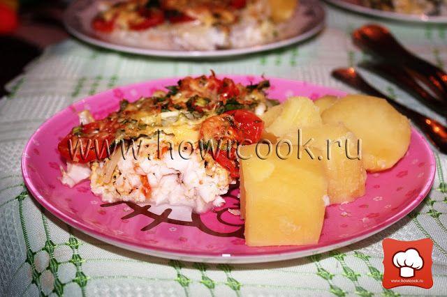 Треска, запеченная с овощами в рукаве