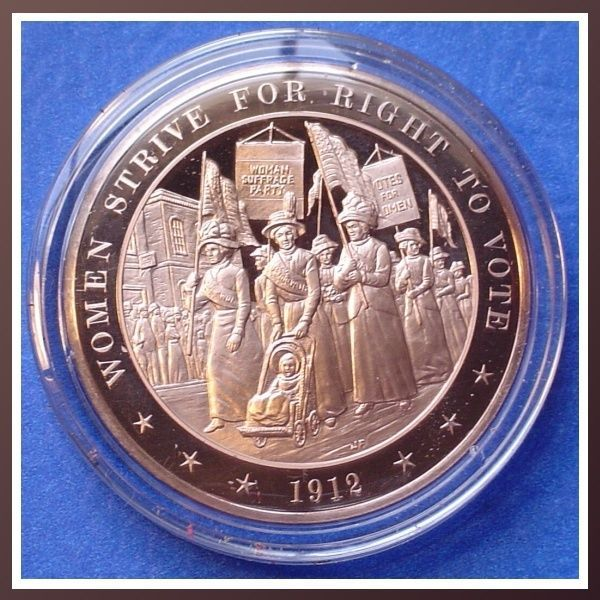 1912 Women Strive For Right To Vote - Solid Bronze Medal