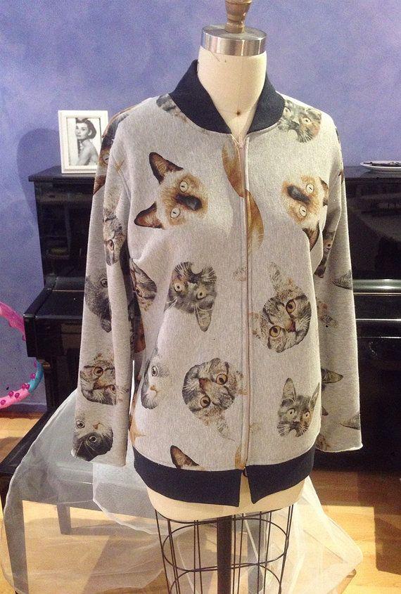 Kitten fleece jacket by madling on Etsy