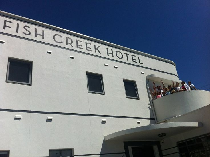 The Fish Creek Hotel is a great piece of art deco architecture being carefully revamped by Simon and Terry