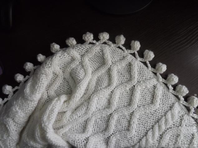 обвязка края изделия помпонами - Ярмарка Мастеров - ручная работа, handmade