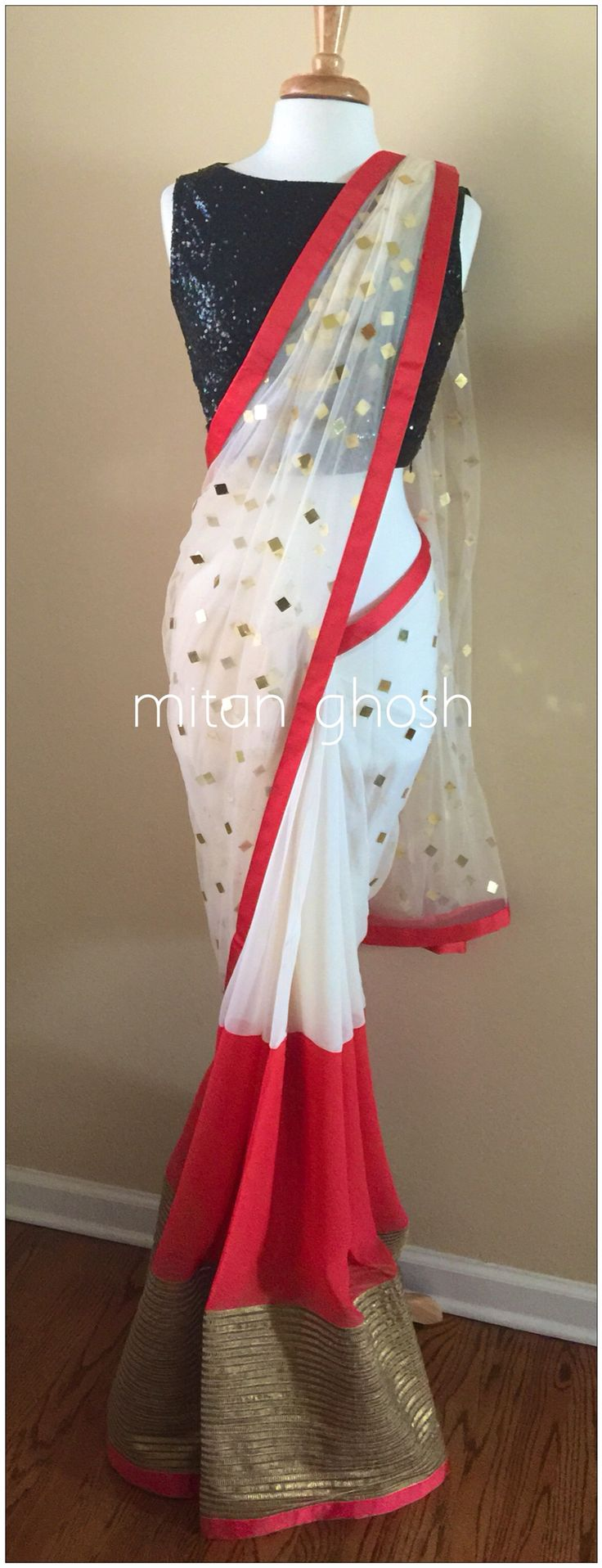 Georgette/Net Gota Saree.