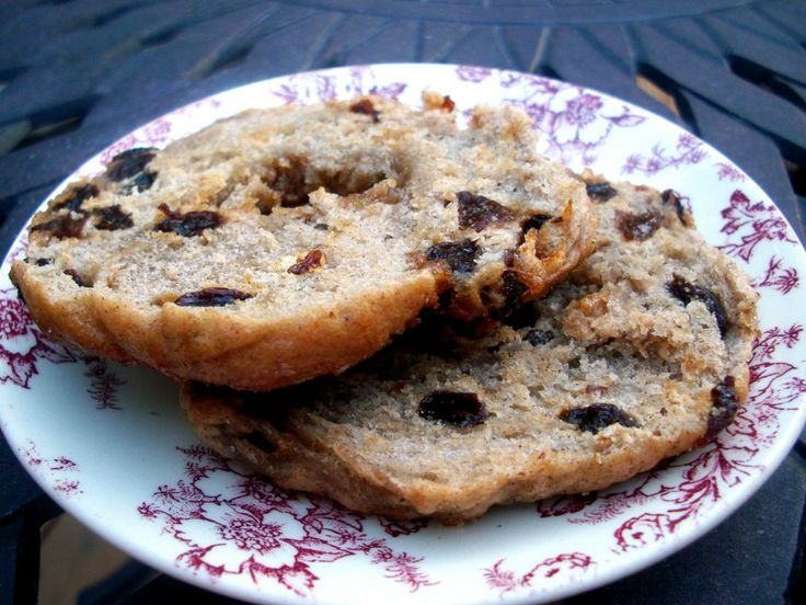 Homemade Cinnamon Raisin Bagels.   Love mine topped with peanut butter, or cinnamon & sugar.    By Monique of Ambitious Kitchen
