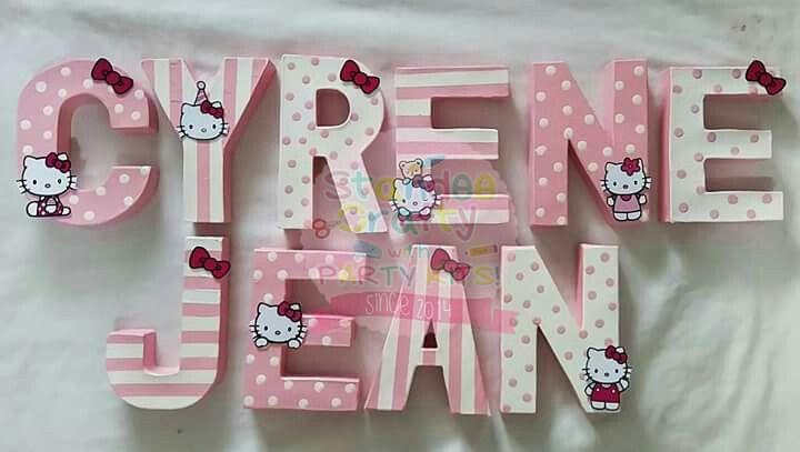 Hello Kitty Theme Letter Standee