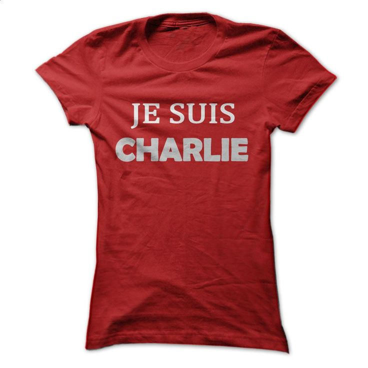 """""""Je Suis Charlie"""" T-Shirts Red (Ladies) T Shirt, Hoodie, Sweatshirts - design your own t-shirt #shirt #style"""