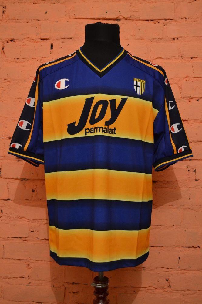 96a2e9b7dc NEW VINTAGE AC PARMA HOME FOOTBALL SHIRT 1999 2000 JERSEY MAGLIA CALCIO  MAILLOT (eBay Link)