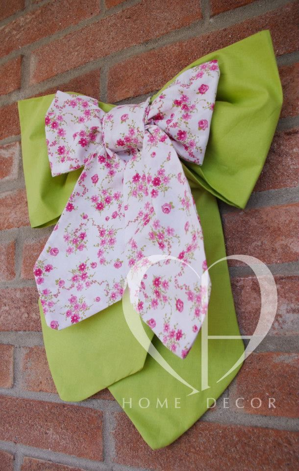 Double cotton bow  Cotton with light pink flowers Cotton green grass