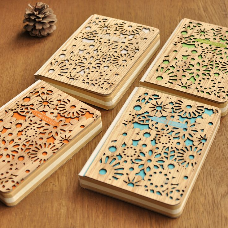Vintage Hollow Lace Wooden Diary Notebook Sales Price: RM18