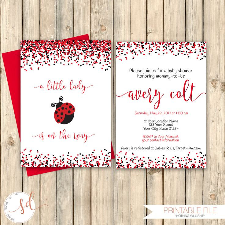 113 best Baby Shower Invitations images on Pinterest | Baby girl ...