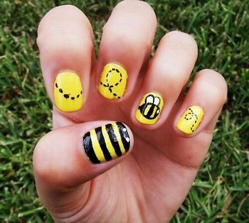 Bumble bee nails!!!
