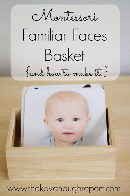 Montessori Familiar Faces Basket with a tutorial on how to make these personalized DIY cards