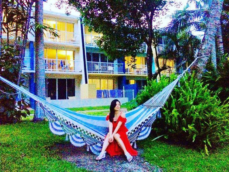 ホテル内にはいたるところにハンモックがあっていつでもリラックス #オーストラリア #ロコガール #デイドリームアイランド #ハッピー#リゾート #スパ #ハンモック #ホテル #夢の島 #旅 #世界遺産 #locogirl #beachg