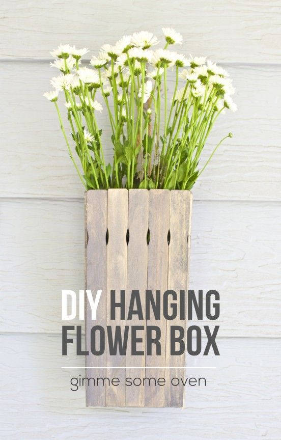 DIY Hanging Flower Box - Gimme Some Oven
