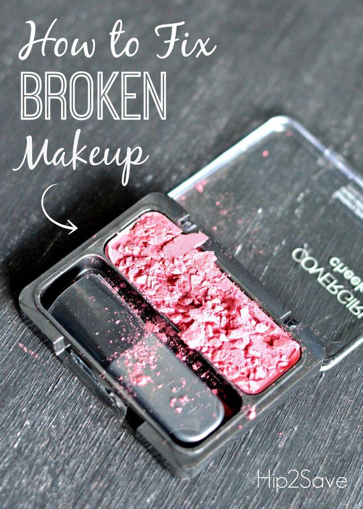 Como arreglar maquillaje roto
