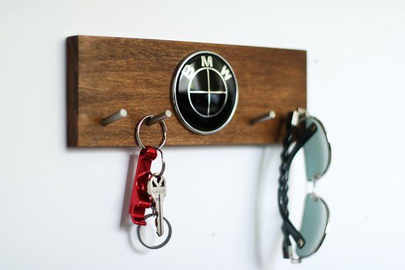 Custom Bmw Car Keys Holder Solid Wood Wall Mounted Key Etsy In
