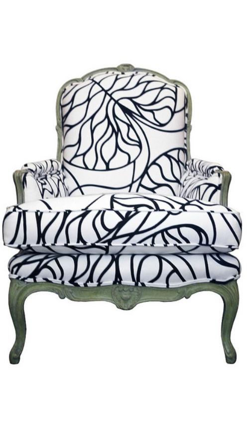 marimekko-upholstered chair